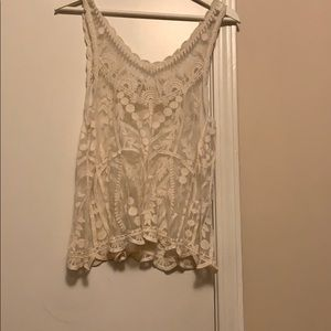 Lacey tank top.